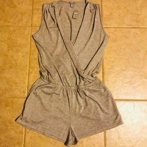Heather AERIE grey lounge short romper size SMALL